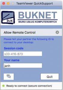 TeamViewer BUKNET QuickSupport